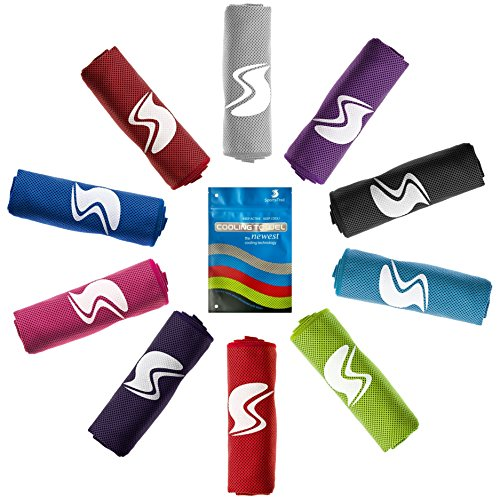 Cooling Towel,Ice Sports Towel,Stay Cool with 40''×12'' Microfiber Towel for All Activities, Keep Cool with Chilly Towel and Use it As Yoga Towel, Fitness Towel, Gym Towel, Golf Towel - Hyper Sports Racing