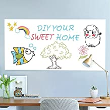 Rabbitgoo Whiteboard Sticker Self-Adhesive Wall Sticker Chalkboard Contact Paper 17.7 by 78.7 Inches with 1 Marker Pen for School/ Office/ Home (for Dry Erase Marker Pen)