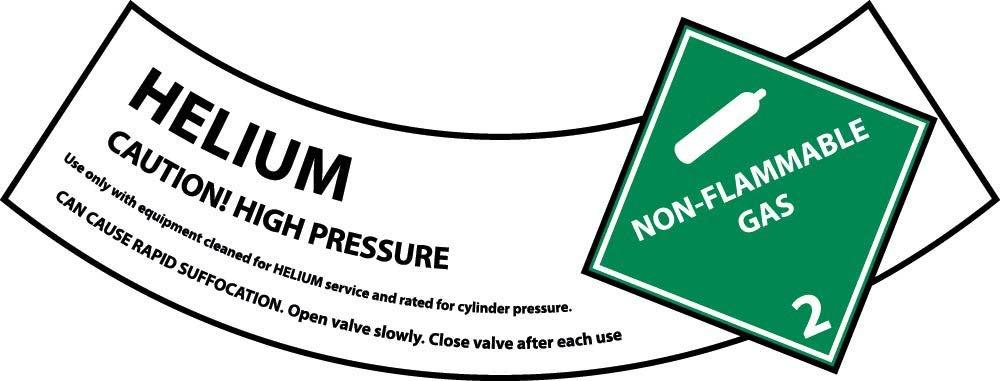 CY104AP National Marker Helium Cylinder Shoulder Label (Pack of 25)