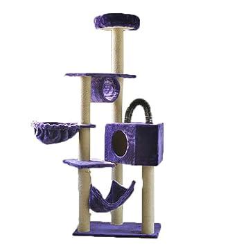 QIONGQIONG Árbol para Gatos,Escalador para Gatos Casa De Gato,Multi-Nivel Cat Tree Furniture Condo Pet House Plush Perches Activity Center Cat Tower Hamaca ...