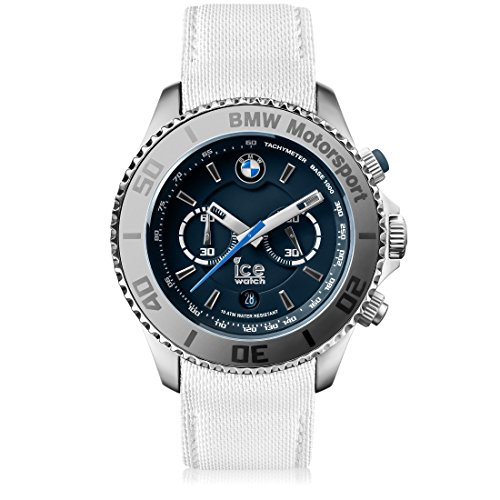 Ice-Watch - BMW Motorsport (Steel) White - Men's Wristwatch with Leather Strap - Chrono - 001124 (Extra Large)