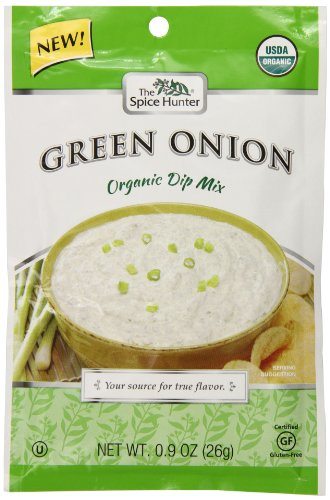 Spice Hunter Organic Green Onion Dip Mix, 0.9 Ounce (Pack of 12)