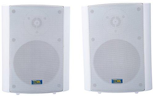 TIC TICASP60B White 5.25 75-Watt 2-Way Outdoor Patio Speaker