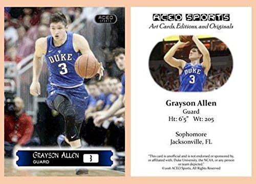 Grayson Allen 2015 2016 ACEO Rookie Card RC Duke Blue Devils
