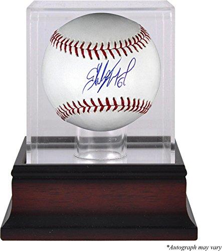 (Starling Marte Pittsburgh Pirates Autographed Baseball and Mahogany Baseball Display Case - Fanatics Authentic)