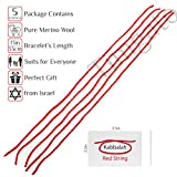 Pack of 5 - Original Red String Kabbalah Bracelet - Protection for You and Your Family Against the Evil Eye from Bethlehem, Israel