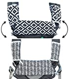Cheap Drool & Teething Pad | Fits All Carriers | Reversible Organic Cotton 3-Piece Set – Ideal for Infant Toddler Girls & Boys [Patent Pending]