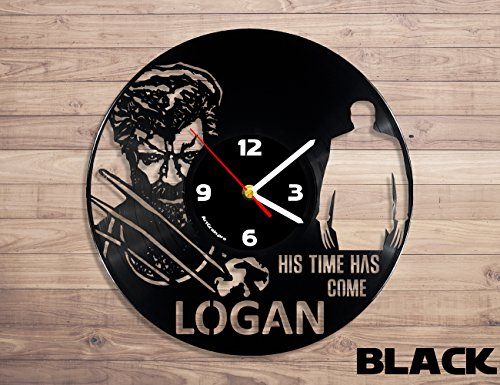 Wolverine Logan Superhero vinyl record wall clock