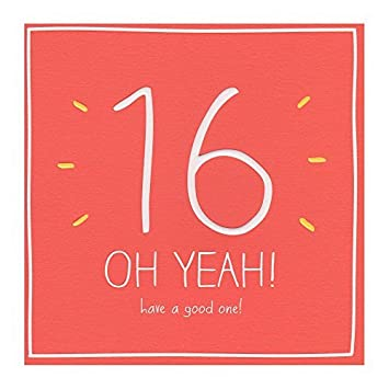 happy 16th birthday oh yeah greeting card sixteen 16th son