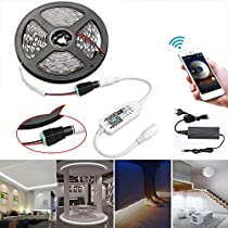 Striscia LED IP 65 Dimmerabile 5m LED Set Striscia LED 300 LED con alimentatore 5A, Striscia striscia SMD 2835 Striscia striscia striscia leggera, Bianco caldo 3000K