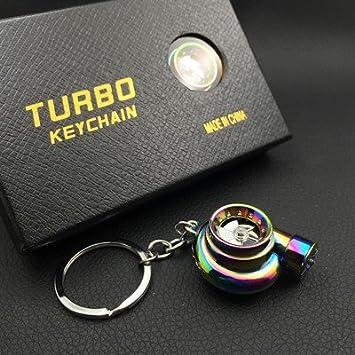 XiaoGao_ Creativo Llavero LED Llavero de Turbo,Sinfonía ...