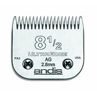 Andis, cuchilla tipo clipper para perros UltraEdge de acero con infusión de carbono, tamaño 8-1 /2 pulgadas, longitud de corte de 7/64 pulgadas (64170)
