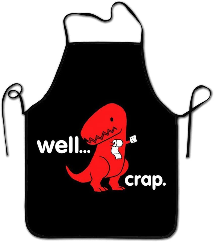 RESULT LOVE Well Crap Roll Paper T-Rex Dinosaur Funny Chef Kitchen Cooking and Baking Bib Apron