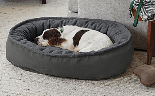 GUNMETAL SMALL GUNMETAL SMALL Orvis Comfortfill Wraparound Dog Bed With Fleece Small Dogs 7-18 Kg, Gunmetal, Small