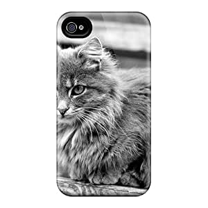 Ideal BJBcke Case Cover For Iphone 4/4s(animals Cats Gray Kitty), Protective Stylish Case