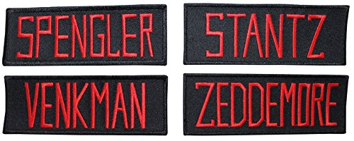 Lot of 4 Ghostbusters Name Tags Applique Patches