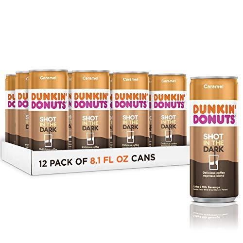 Dunkin Donuts Shot In The Dark, coffee espresso blend drink (Caramel, 8.1 fl oz, 12 Pack)