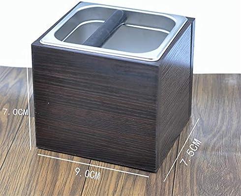 GIGIEroch Contenedor de Caja de café para café molido Acero Inoxidable posos de café Tierra de la Caja Que golpea la Caja café molido Electrodomésticos justificantes ...