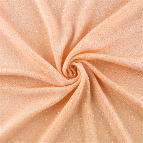- Peach Pink Glitter Flock Slinky Knit, Fabric by The Yard