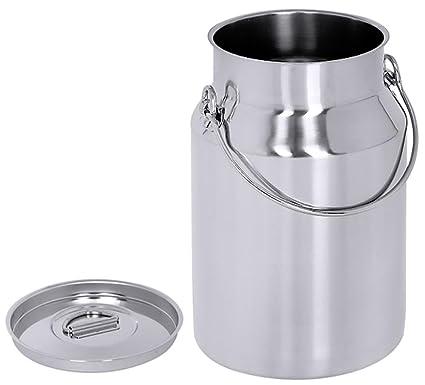 Caja de acero inoxidable jarra de Contacto 5 con tapa ...