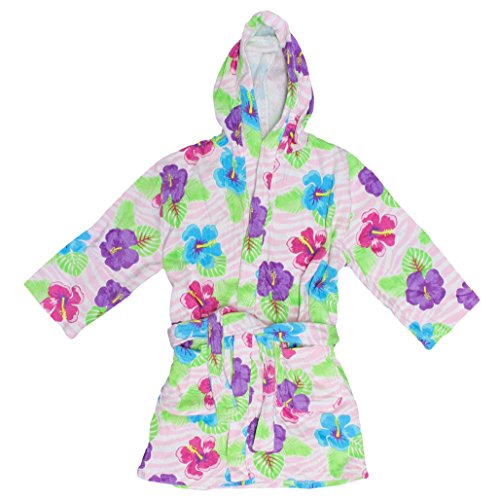 St. Eve Girls Hooded Terry Robe Bathing Suit Beach Cover-...