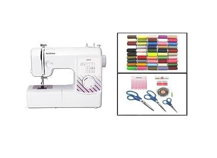 Brother LX17 mecánica máquina de coser Kit de costura para principiantes con unidades), color