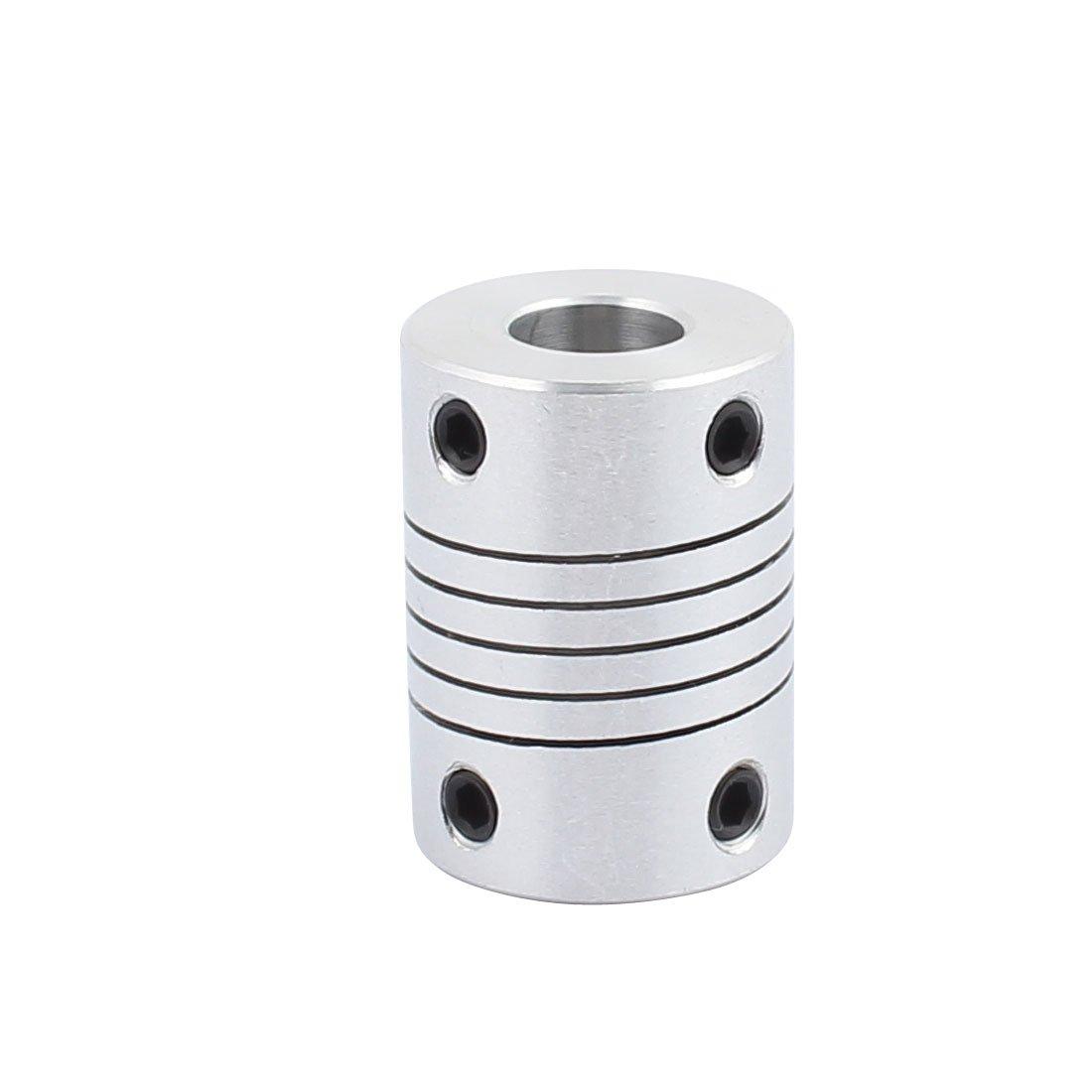 uxcell 8mm to 8mm Shaft Coupling 25mm Length 18mm Diameter Stepper Motor Coupler Aluminum Alloy Joint Connector for 3D Printer CNC Machine DIY Encoder
