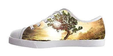 dalliy Árbol de Vida Hombres Calzado Zapatos de Lienzo zapatillas zapatos Blanco a slu5jIDnG5