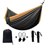 Zxcvlina Ultralight Hammock with Tree Straps for Camping , Durable Ripstop Parachute Nylon Hammocks Lightweight Gear for Outdoors, Backpacking, Hiking with Space-Saving Steel Stand
