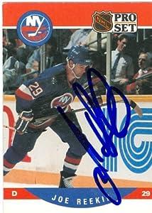 Autograph Warehouse 63015 Joe Reekie Autographed Hockey Card New York Islanders 1990 Pro Set No. 487