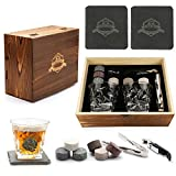 Best Man Whisky Glasses - Whiskey Stones Gift Set-2 Crystal Whiskey Glasses-8 Granite Review