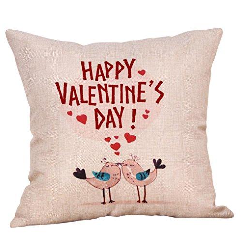 Pillow Case, Kimloog Sweet Love Birds Pattern Happy Valentin