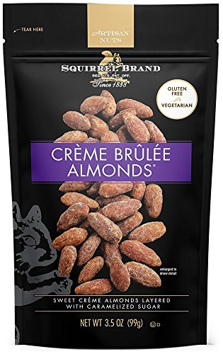 SQUIRREL BRAND Artisan Nuts Creme Brulee Almonds, 3.5 oz (Pack of 6) -