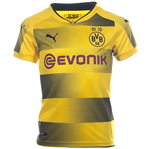 PUMA Kids' Borussia Dortmund 2017/2018 Home Soccer Jersey (Sz. Medium) Yellow