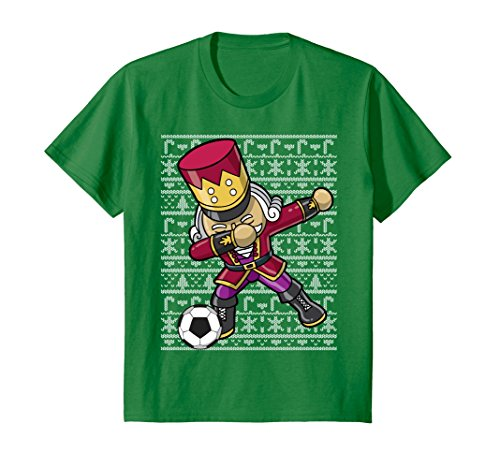 (Kids Dabbing Nutcracker Soccer Dab Shirt 6 Kelly Green)