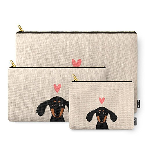Society6 Dachshund Love Carry-All Pouch Set of 3