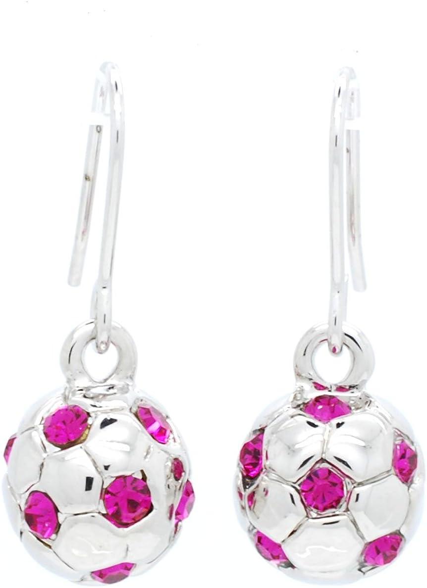 Violet Victoria & Fan Star Soccer Ball EARRINGSFULL Soccer Ball - Crystal Soccer Ball Earrings