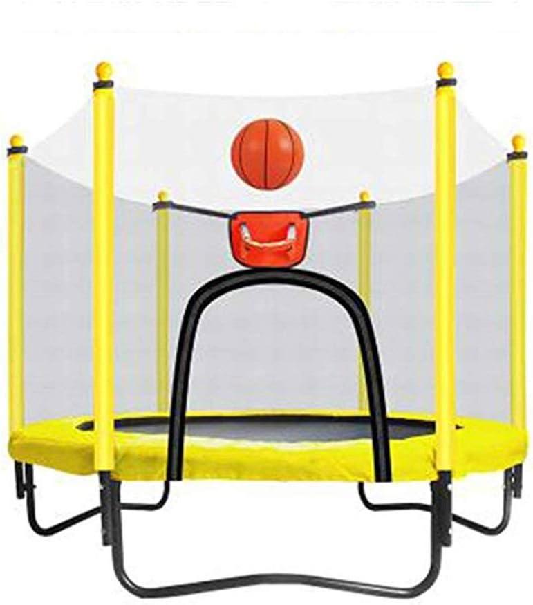 JBFZDS Trampolín De Jardín For Niños, con Cerramiento De Seguridad Red De Aro De Baloncesto Y Escalera Trampolín For Niños - 8 Colores, 59 × 51 Pulgadas (Color : C): Amazon.es: Deportes y aire libre