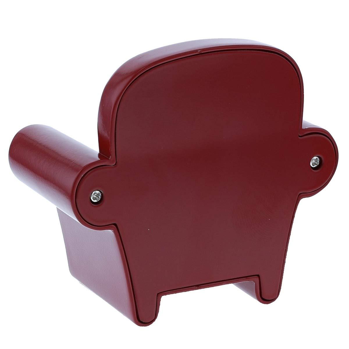Miniature Armchair Sofa Clock Burgundy Red Couch Novelty Desktop Collectors Clock TM19