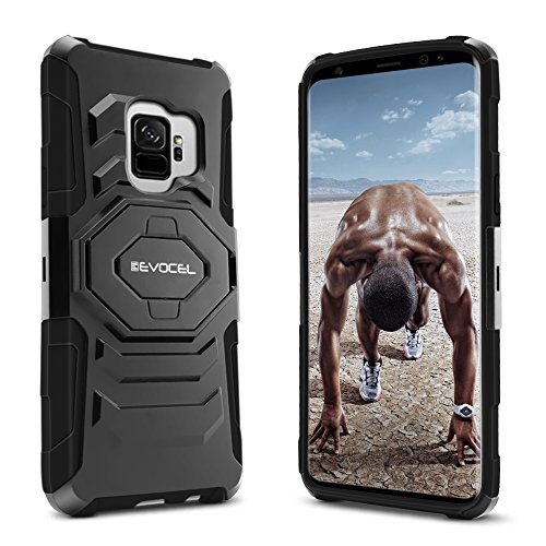 Galaxy S9 Case, Evocel [New Generation] Rugged Holster Dual Layer Case [Kickstand] [Belt Swivel Clip] for Samsung Galaxy S9
