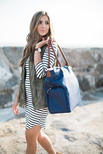 Sarah Wells ''Abby'' Breast Pump Bag, Real Leather Straps (Navy) by Sarah Wells (Image #7)