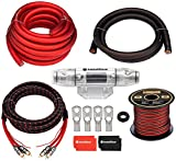 InstallGear 1/0 Gauge OFC Amp Kit with 20ft Power Wire (99.9% Oxygen-Free Copper)