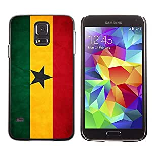 Shell-Star ( National Flag Series-Ghana ) Snap On Hard Protective Case For Samsung Galaxy S5 V SM-G900