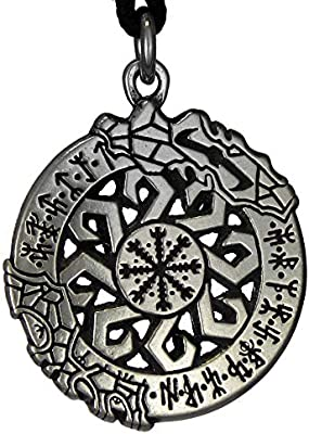 Four Pewter Viking Odin/'s Protection Rune Buttons