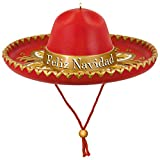 """Celebrate the holidays in true Spanish style with a musical sombrero Christmas ornament. It plays the favorite, """"Feliz Navidad"""" by José Feliciano. Battery-operated music feature includes 2 replaceable LR44 batteries. Festive and collectible, ..."""