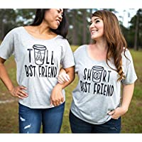 Best Friend Shirts - Best Friend Gift - Best Friends - Meilleur Ami Tshirt - Coffee Shirt - Tall Best Friend - Short Best Friend - BFF Shirt - Best Friend - Gifts for Best Friends - Gray Tshirt