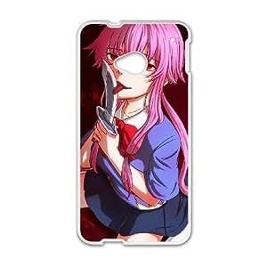 HTC One M7 phone case White Mirai Nikki Future Diary AAAD1781792