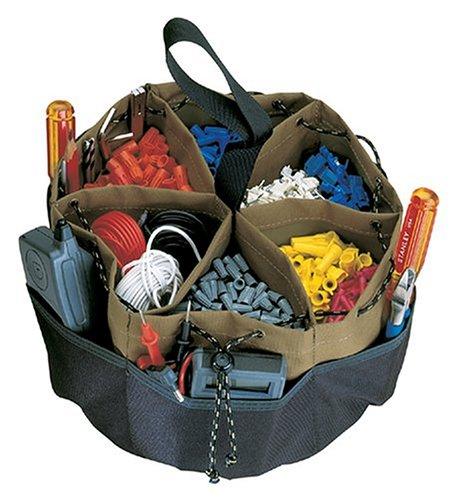 Large Round Tool Bag (CLC Custom Leathercraft 1148 22-Pocket Drawstring BucketBag)