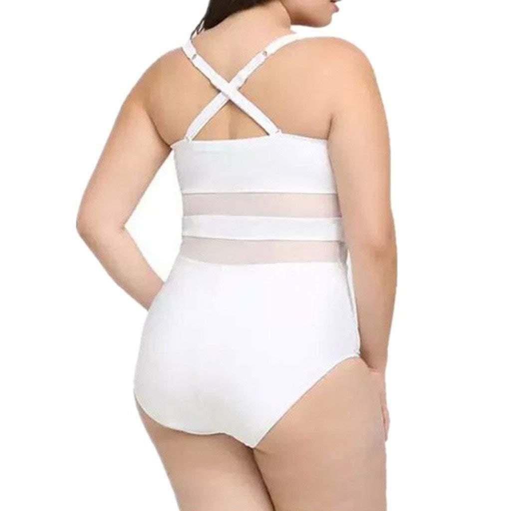 Bikinis Traje de ba/ño una Pieza Mujer Gorda Ba/ñadores de Mujer Natacion Deportivo Chaleco POLP Mono Bikinis Mujer 2019 Braga Alta Tallas Grandes Verano Playa Ropa de ba/ño M-XXXL