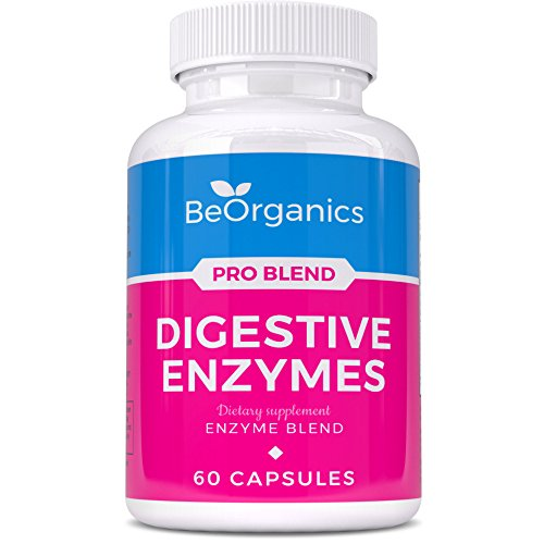 Digestive Enzymes – Essential Probiotic Supplement For Men & Women with Full Spectrum Makzyme Pro Blend – 60 Vegetarian Pills For Better Digestion*